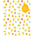 easter seamless pattern chicks and eggs vector image vector image