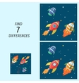 Educational game for children find the differences vector image vector image