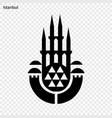 emblem istanbul vector image