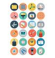 Flat Design Icons 5 vector image vector image