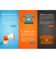 flat style web banner set vector image vector image