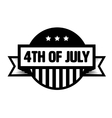 fourth july vintage stamp vector image vector image
