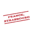 France Strasbourg Watermark Stamp vector image vector image