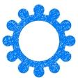 Gear Grainy Texture Icon vector image vector image