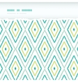 Green ikat diamonds horizontal torn seamless vector image vector image