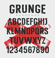 grunge font 009 vector image vector image