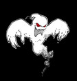 halloween comic icons - scary ghost with red eyes vector image