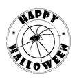 halloween spider stamp vector image vector image