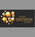 happy birthday congratulations card template with vector image