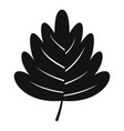 hawthorn leaf icon simple style vector image vector image