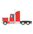 heavy transport - red truck vector image vector image