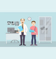 horizontal medical banners flat design doctor and vector image