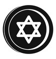 jewish coin icon simple style vector image