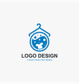 laundry logo design icon machine