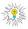 light bulb icon cartoon vector image vector image