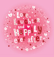 love laughter and happily ever after wedding desig vector image vector image