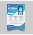 mobile app advertisement flyer template