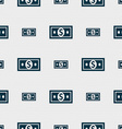 money dollar icon sign Seamless pattern with vector image vector image