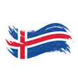 national flag of iceland designed using brush vector image vector image