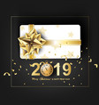 paper art of merry christmas and happy new year vector image vector image