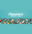 Pharmacy banner medicine medical supplies