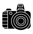 photo camera pro icon black vector image