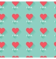 Pink abstract Valentines heart seamless pattern vector image