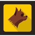 Pinscher dog icon flat style vector image vector image