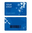 Plastic Gift Cards vector image vector image