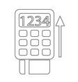 pos terminal icon symbol design vector image