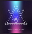 sacred geometry sign photo overlay vector image vector image