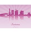 saitama skyline in purple radiant orchid vector image