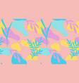 seamless pattern hand drawn various shapes vector image