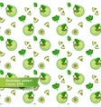 Seamless pattern with green smoothies and vector image vector image