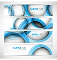 set of banners with circles vector image vector image