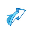 share sign isometric icon feedback forward vector image