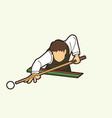 snooker sport action cartoon graphic vector image