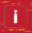 spray bottle silhouette vector image vector image