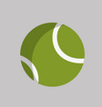 tennis ball object to play sport vector image vector image