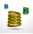 Three isolated springs vector image