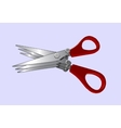 Triple Scissors for Fishing Baits vector image