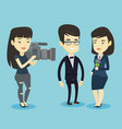 tv interview vector image vector image