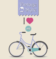 Vintage hipster bicycle background vector image