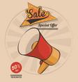 vintage megaphone marketing sale special offer vector image