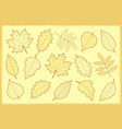 vintage set autumn leaves vector image