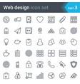 web design seo and development thin line icon set vector image vector image