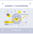 concept of data protection vector image