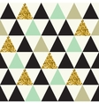 Seamless pattern with gold glitter triangles vector image