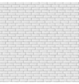 White blank brick wall seamless pattern texture vector image