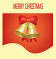 christmas card with bells vector image